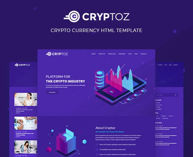 Cryptcon - Crypto Currency HTML Template