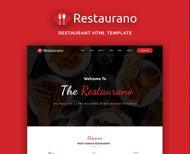 Pizza, Restaurants & Cafe HTML Template